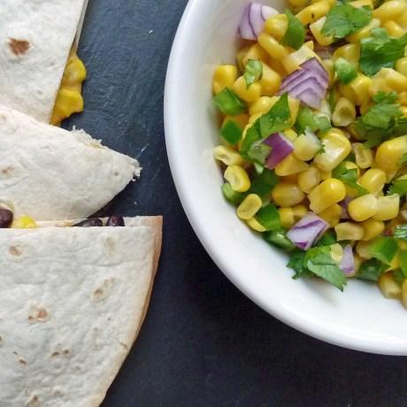 Black Bean and Corn Salsa Quesadilla