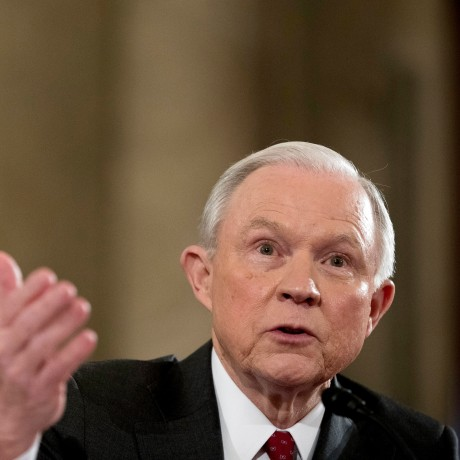 Image: Attorney General-designate, Sen. Jeff Sessions, R-Ala. testifies on Capitol Hill in Washington, D.C., Jan. 10, 2017.