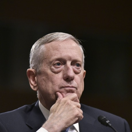 Image: Retired Marine Corps general James Mattis testifies before the Senate Armed Services Committee on his nomination to be the next secretary of defense on Capitol Hill in Washington, D.C. on Jan. 12, 2017.