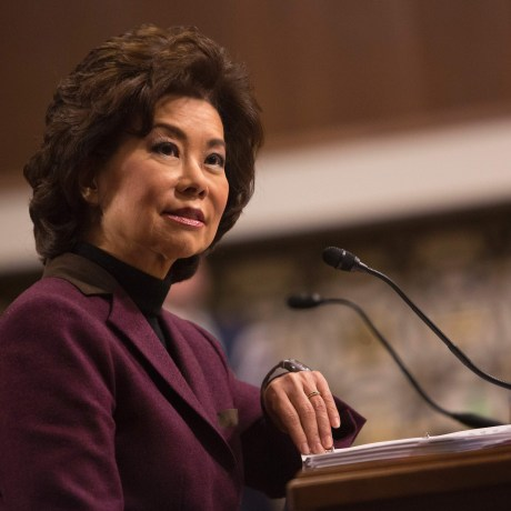 Image: Elaine Chao appears before the Senate The Senate Commerce, Science and Transportation Committee on Capitol Hill in Washington, D.C. for her confirmation hearing to be US Secretary of Transportation, Jan. 11, 2017.