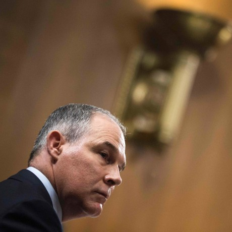 Image: Oklahoma Attorney General and President-elect Donald Trump's nominee to head the Environmental Protection Agency (EPA), Scott Pruitt testifies during a Senate Environment and Public Works Committee confirmation hearing on Capitol Hill on Jan. 18, 2