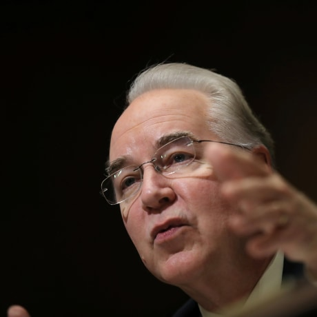 U.S. Rep. Price testifies before Senate Finance Committee confirmation hearing on Capitol Hill in Washington