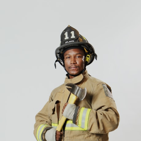 Firefighter Anare Holmes