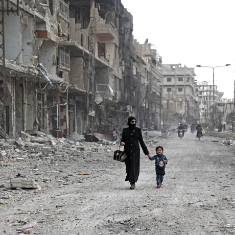 Image: TOPSHOT-SYRIA-CONFLICT-GHOUTA