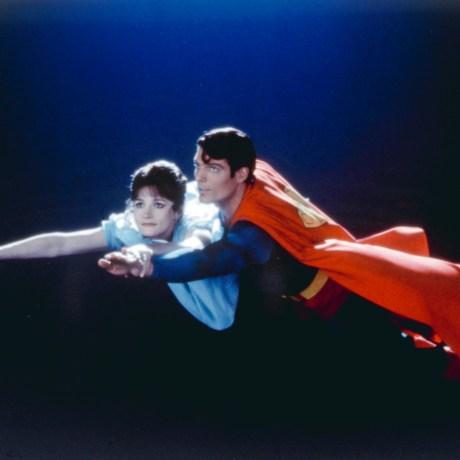 SUPERMAN, Margot Kidder, Christopher Reeve, 1978. (c) Warner Bros./ Courtesy: Everett Collection.
