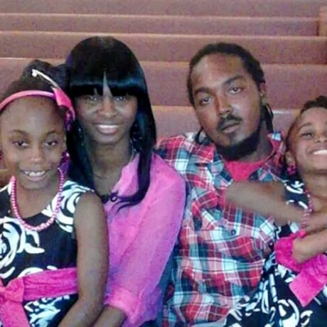 Image: Gregory Hill Jr. and Monique Davis with with their daughters Destiny Hill, left, and Aryanna Hill, right.