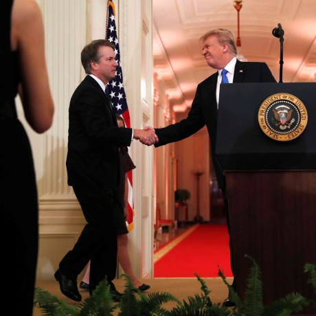 Image: U.S. President Donald Trump introduces his Supreme Court nominee judge Brett Kavanaugh in the East Room of the White House in Washington