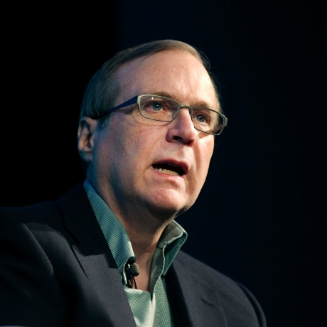"""Microsoft co-founder Paul Allen discusses his new memoir """"Idea Man"""" during an appearance at the Computer History Museum in Mountain View, California, on April 25, 2011."""