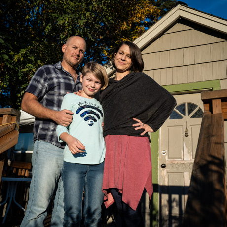 Josh, Ori and Kristina Turner at their home outside Seattle.