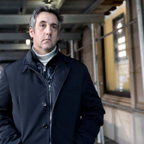 Image: Michael Cohen, former lawyer to President Donald Trump, leaves his apartment building in New York on Dec. 7, 2018.