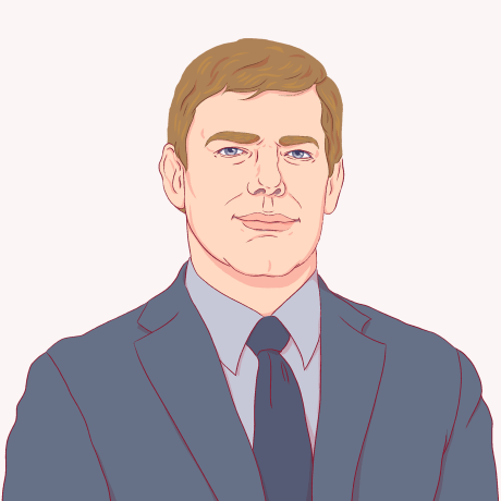 Illustration of Eric Swalwell.