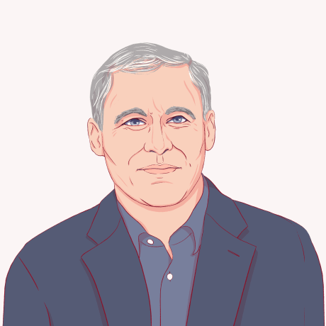 Illustration of Jay Inslee.