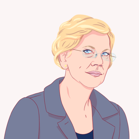 Illustration of Elizabeth Warren.