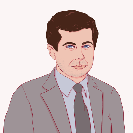 Illustration of Pete Buttigieg.