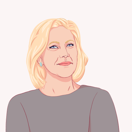 Illustration of Kirsten Gillibrand.