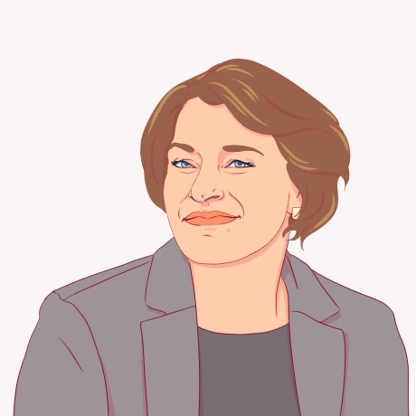 Illustration of Amy Klobuchar