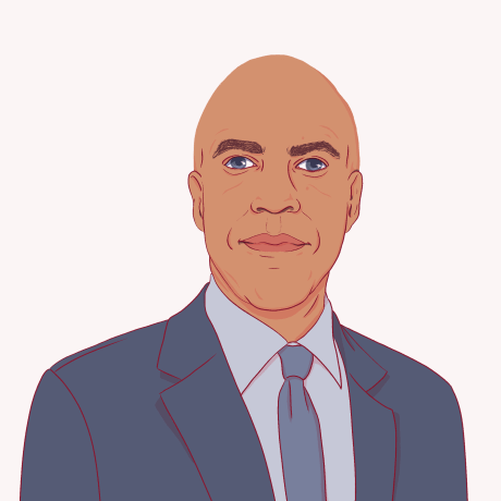 Illustration of Cory Booker.