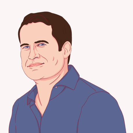 Illustration of Seth Moulton.
