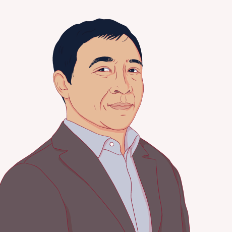 Illustration of Andrew Yang