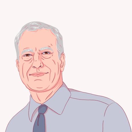 Illustration of Bill deBlasio.