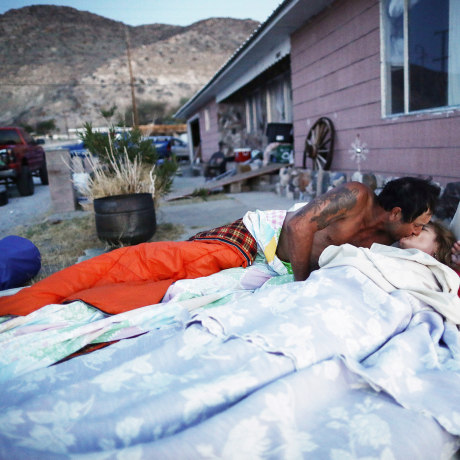 Image: California Family Displaced From Their Earthquake Stricken Home