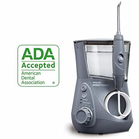 Waterpik Water Flosser Electric Dental Countertop Oral Irrigator For Teeth - Aquarius Professional, WP-667 Modern Gray