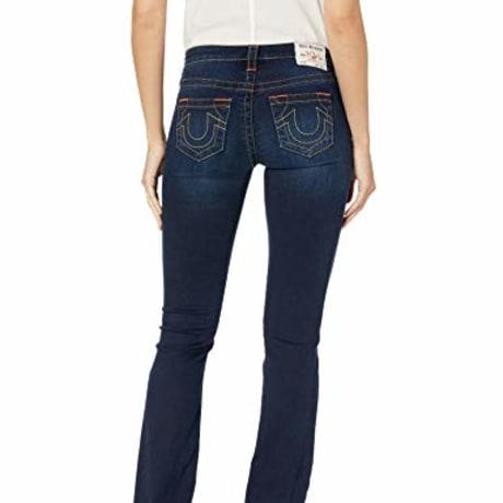 True Religion Women's Billie Mid Rise Straight Leg Rinse Jean, Minimal Abrasion, 26