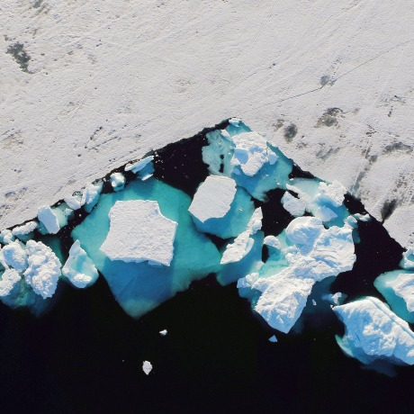 Image: An iceberg floats in a fjord near the town of Tasiilaq, Greenland
