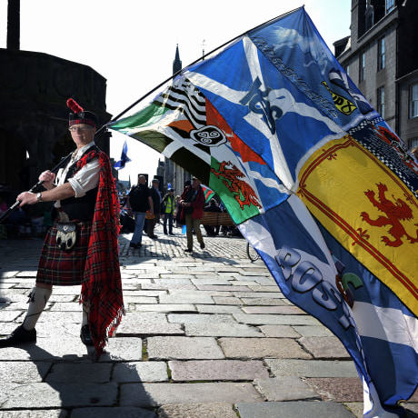 Image: John Love was one of thousands of people marching for Scottish independence this summer in Aberdeen.