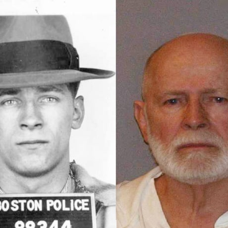 """Image: File booking photo of former mob boss and fugitive James """"Whitey"""" Bulger, who was arrested in Santa Monica in 2011"""