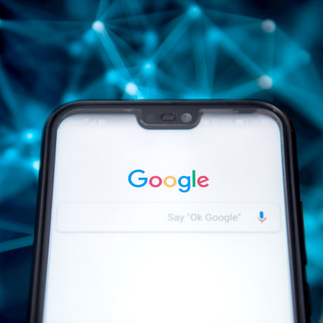 Google browser is seen on an android mobile phone