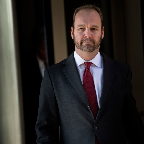 Image: Former Trump campaign official Rick Gates leaves Federal Court on Dec. 11, 2017 in Washington, DC.