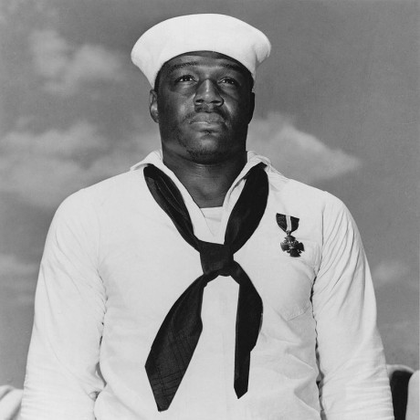 Doris Miller, who was the first African-American sailor to receive the Navy Cross for his bravery during the Japanese attack on Pearl Harbor.