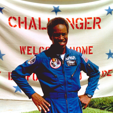 Image: Guion Bluford, Jr., the Challenger space shuttle mission specialist, at Johnson Space Center in Houston in 1983.