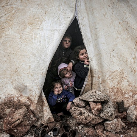 Image: Syrians fled attacks of Assad Regime and its allies