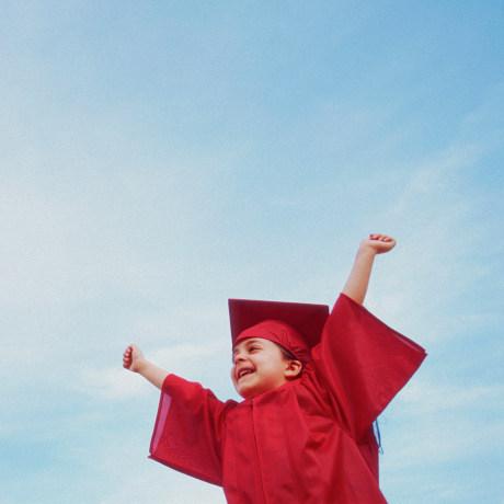 Girl Graduating from Kindergarten