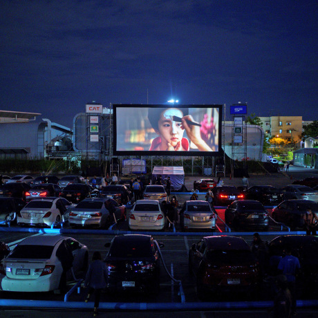 Image: The first drive-in movie theatre amid the spread of the coronavirus (COVID-19) in Bangkok
