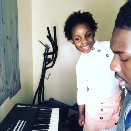 A father and daughter duo perform a powerful and adorable duet.