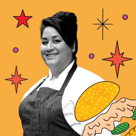 Ayesha Nurdjaja's Falafel Sandwich