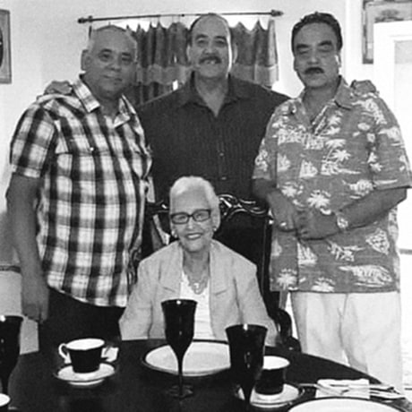 The Salas Solis family lost these four members to Covid-19 between Aug. 6 and Sept. 15. From left, back row: Ruperto Salas Solis, Raul Salas Solis and Nieves Salas Solis; Eva Solis-Salas is in the center.