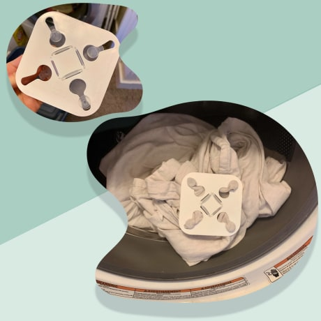 Illustration of wad-free laundry tool