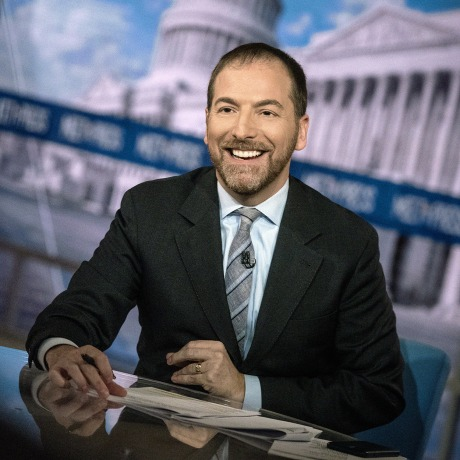 """Image: Chuck Todd on \""""Meet the Press\"""" in 2019."""