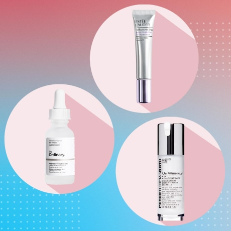 Images of three different skin care bottles of Argireline