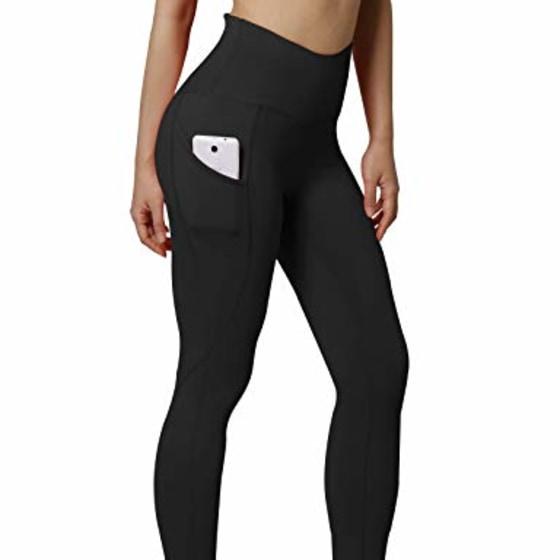 OCOMMO Women Capri Leggings 3 Inch High Waist Tummy Control Yoga Cropped Leggings