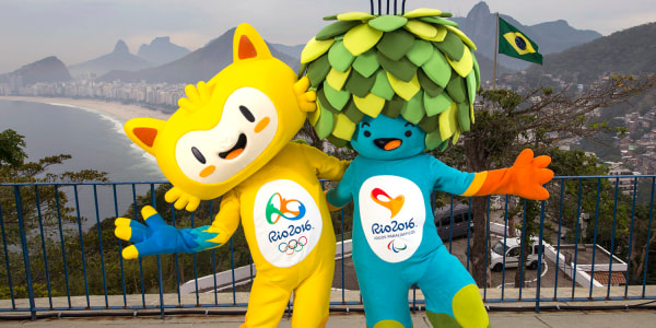 Rio 2016 Olympics mixes it up with new mascots — a cat-monkey-bird mix and a tree