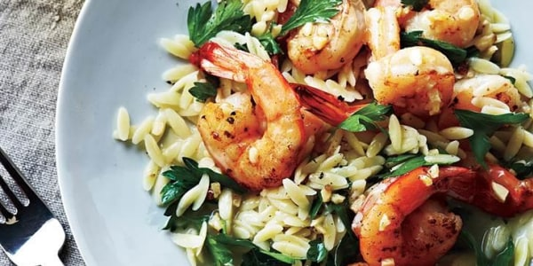 Healthy shrimp scampi in under 20 minutes — what a catch!
