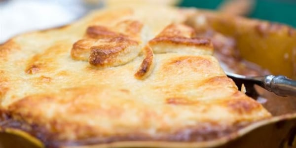 Beef and Irish Stout Pie with Potato Pastry Topping