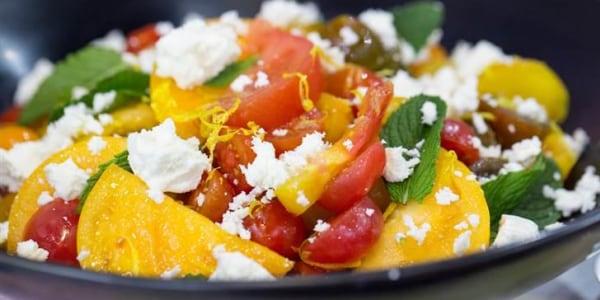 Tomato, Mint, Lemon and Feta Salad