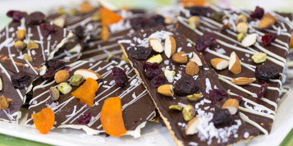 Chocolate-covered Matzo Bark