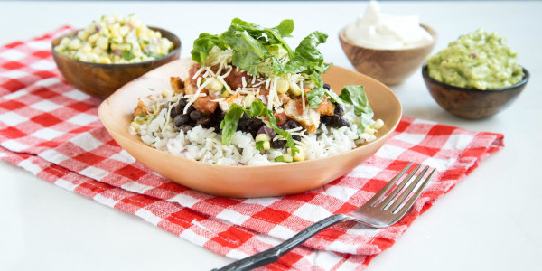 Whip up this Chipotle-style burrito bowl recipe for easy 'takeout' from your own freezer!